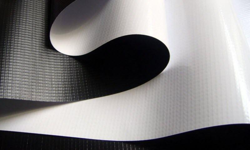 Flex banner Blockout Black White